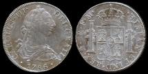 World Coins - 1786 Mo-FM Mexico 8 Reales (Carolus III) AU