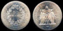 World Coins - 1976 France 50 Franc BU