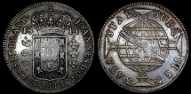 World Coins - 1814 B Brazil 960 Reis - Bahia Mint - AU