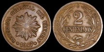 World Coins - 1947 So Uruguay 2 Centesimo AU