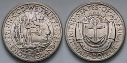 Us Coins - 1936 Providence, Rhode Island Tercentenary Commemorative Silver Half Dollar (Only 20,013 pieces were struck) - BU