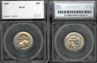 Us Coins - 1959 Washington Quarter SEGS PR67