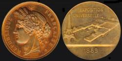 World Coins - 1889 France - Universal Exposition – Paris