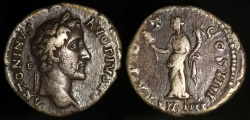 Ancient Coins - Antoninus Pius Denarius -  TR POT COS IIII - Rome Mint