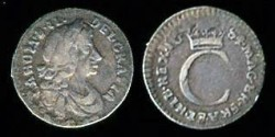 World Coins - 1684 Great Britain 1 Penny XF