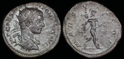 Ancient Coins - Elagabalus Denarius - MARS VICTOR - Rome Mint