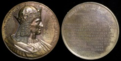 """World Coins - 1837 France - Philip IV """"the Iron King,"""" King of France by Armand-Auguste Caqué #46"""