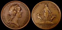 World Coins - 1744 France - Louis XV - French Astronomical Expedition to the North Pole and the Equator by Francois Joseph Marteau and Charles-Norbert Roettiers