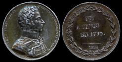World Coins - 1824  France - Joseph Francois Oscar I, King of Sweden and Norway from 1844 to 1859 by Jean-Auguste Barre