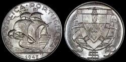 World Coins - 1945 Portugal 2-1/2 Escudo -  - BU Silver