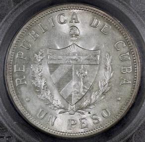 World Coins - 1934 Cuba 1 Peso -