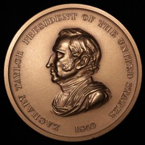 "US Coins - 1849 Zachary Taylor ""Indian Peace Medal"" – Twelfth President of the United States (March 4, 1849 to July 9, 1850) - Original US Mint Medal by Henry Kirke Brown and John Reich"