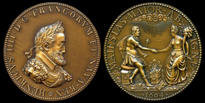 World Coins - 1604 France - Henri IV and Marie de Medici, Complimentary Medal by Philippe Danfrie