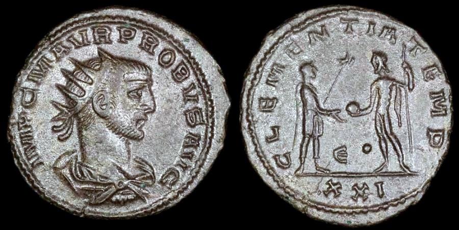 Ancient Coins - Probus Antoninianus - CLEMENTIA TEMP - Antioch Mint