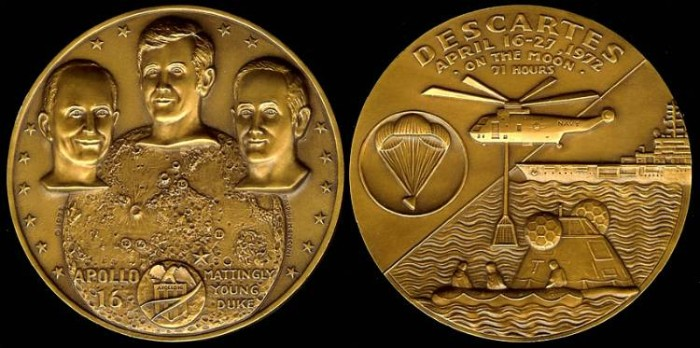 US Coins - 1972 US: Apollo 16 commemorative medal