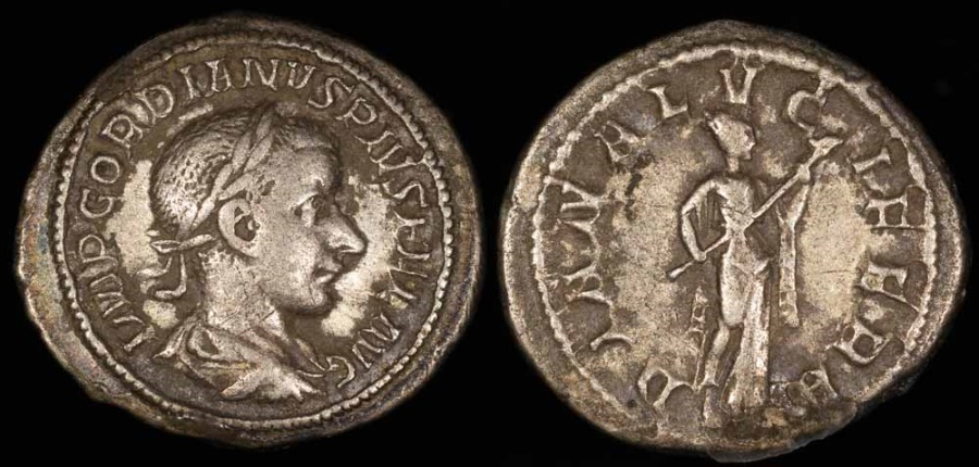 Ancient Coins - Gordian III Denarius - DIANA LVCIFERA - Rome Mint