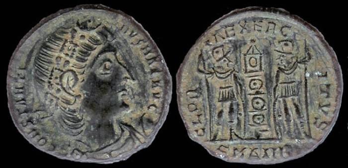 Ancient Coins - Constantine I Ae3 - GLORIA EXERCITVS - Alexandria Mint