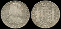 World Coins - 1781 Mo-FF Mexico (Charles III) 8 Reales XF