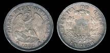 World Coins - 1882 Chile 1 Peso AU