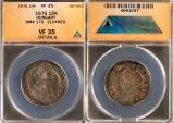 World Coins - 1676 KB Hungary 15 Krajczar - Leopold I - ANACS VF35