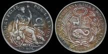 World Coins - 1935 Peru 1 Sol XF