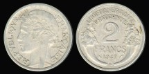 World Coins - 1947 B France 2 Franc AU