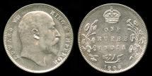 World Coins - 1906 C India (British) 1 Rupee UNC