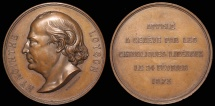 World Coins - 1873 Switzerland - Charles Jean Marie Loyson (Père Hyacinthe) Death Medal, famous French preacher and theologian by Jean Charles Richard
