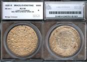 World Coins - 1820 R Brazil 960 Reis - Joao VI - SEGS AU50