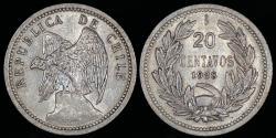 World Coins - 1938 Chile 20 Centavo UNC