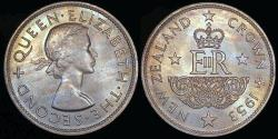 World Coins - 1953 New Zealand 1 Crown - Elizabeth II Coronation - BU