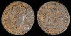 Ancient Coins - Theodosius I  Ae2 - GLORIA ROMANORVM - Constantinople Mint