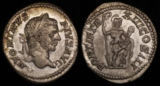 Ancient Coins - Caracalla Denarius - PONTIF TR P XIII COS III - Rome Mint