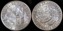 World Coins - 1952 Cuba 20 Centavos - 50th Year of the Republic - Silver Commemorative - BU