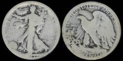 Us Coins - 1923 S Walking Liberty Half Dollar AG