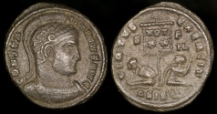 Ancient Coins - Constantine I Ae3 - VIRTVS EXERCIT - Siscia Mint (Rare mint officina combination)
