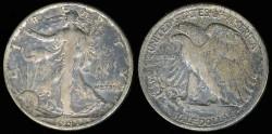 Us Coins - 1943 Walking Liberty Half Dollar VG