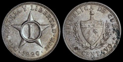 World Coins - 1920 Cuba 1 Centavo - 1st Republic - UNC