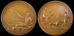 World Coins - 1801 France - Napoleon - Peace of Luneville, Germany by Abraham Abramson