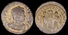 Ancient Coins - Licinius I Ae3 - VICTORIAE LAETAE PRINC PERP - Siscia Mint