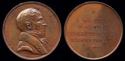 World Coins - 1889  France - Pierre David Bourgmestre of Verviers by Julien Gabriel Leclercq
