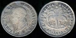 World Coins - 1856 FJ-PTS Bolivia 4 Soles XF