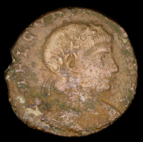 Ancient Coins - Constantine I Ae3 - GLORIA EXERCITVS - Rome Mint