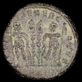 Ancient Coins - Constantius II Ae4 - GLORIA EXERCITVS - Antioch Mint