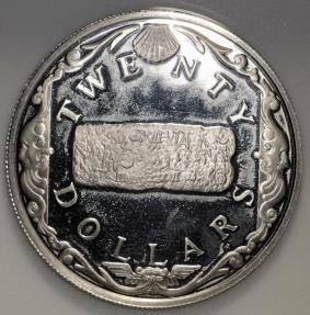 World Coins - 1985 FM(P) British Virgin Islands 20 Dollars - Elizabeth II -