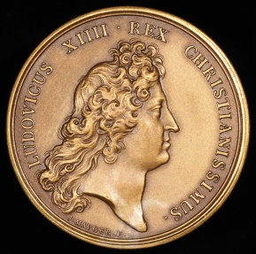 World Coins - 1673 France - King Louis XIIII - Establishment of the French Academy at the Louvre by Jean Mauger