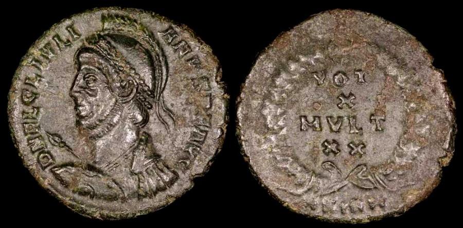 Ancient Coins - Julian II Ae3 - VOT X MVLT XX - Sirmium Mint