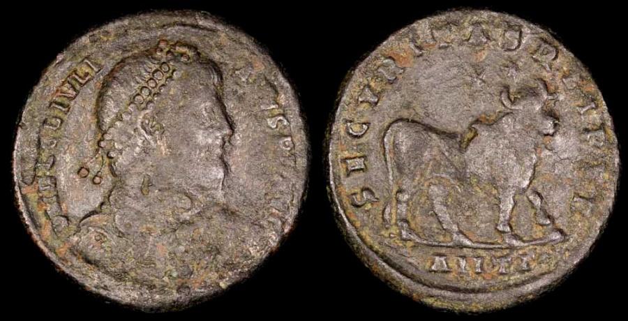 Ancient Coins - Julian II Ae1 - SECVRITAS REIPVB - Antioch Mint