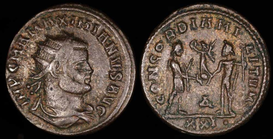 Ancient Coins - Maximianus Antoninianus - CONCORDIA MILITVM - Antioch Mint