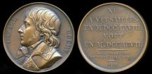 World Coins - 1821  France - Louis Lazare Hoche, a French soldier who rose to be general of the Revolutionary army by Raymond Gayrard for the Galerie Metallique des Grands Hommes Francais (1816-